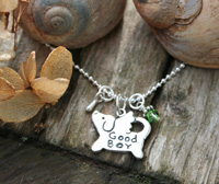 dog sympathy gift necklace