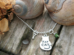 fat cat loss memorial necklace for loss of pet