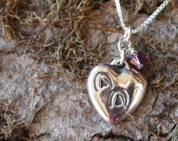 hoofprints heart horse memorial necklace