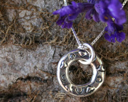 hoofprints and Hearts Memorial Necklace