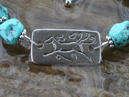 close up of horse memorial bracelet