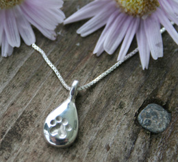pawprint tears cat memorial jewelry